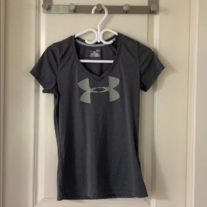 Under armour gym top worn trice size small